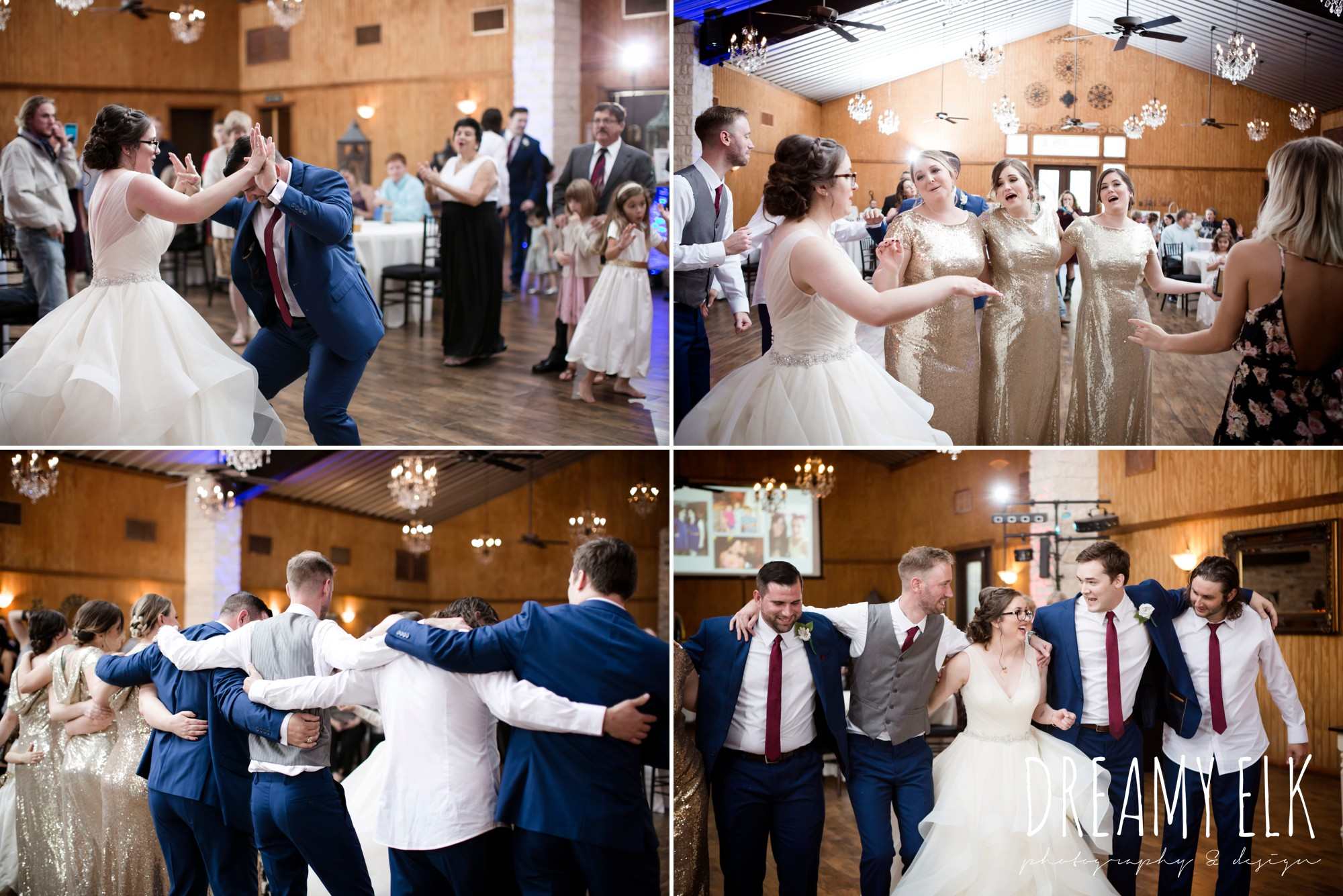 guests dancing at wedding, fall wedding, gold and navy wedding photo, ashelynn manor, austin texas wedding photographer, dreamy elk photography and design, emily ross