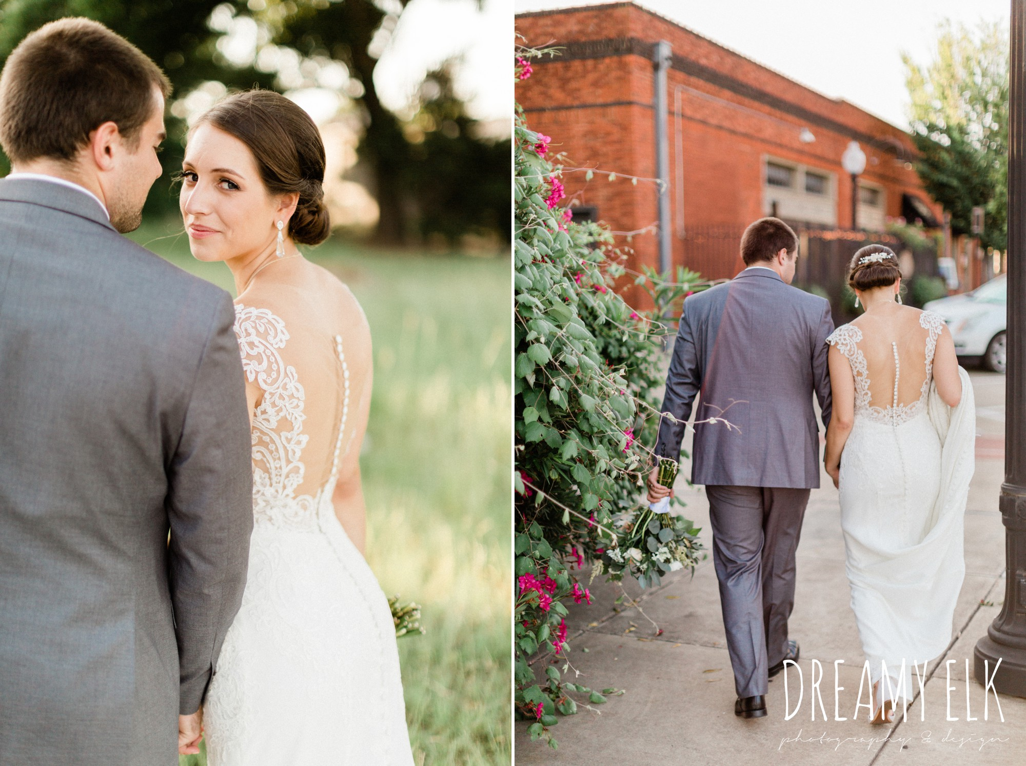 gray suit, navy tie, bride and groom, essense of australia column dress, unforgettable floral, spring wedding photo college station texas, dreamy elk photography and design