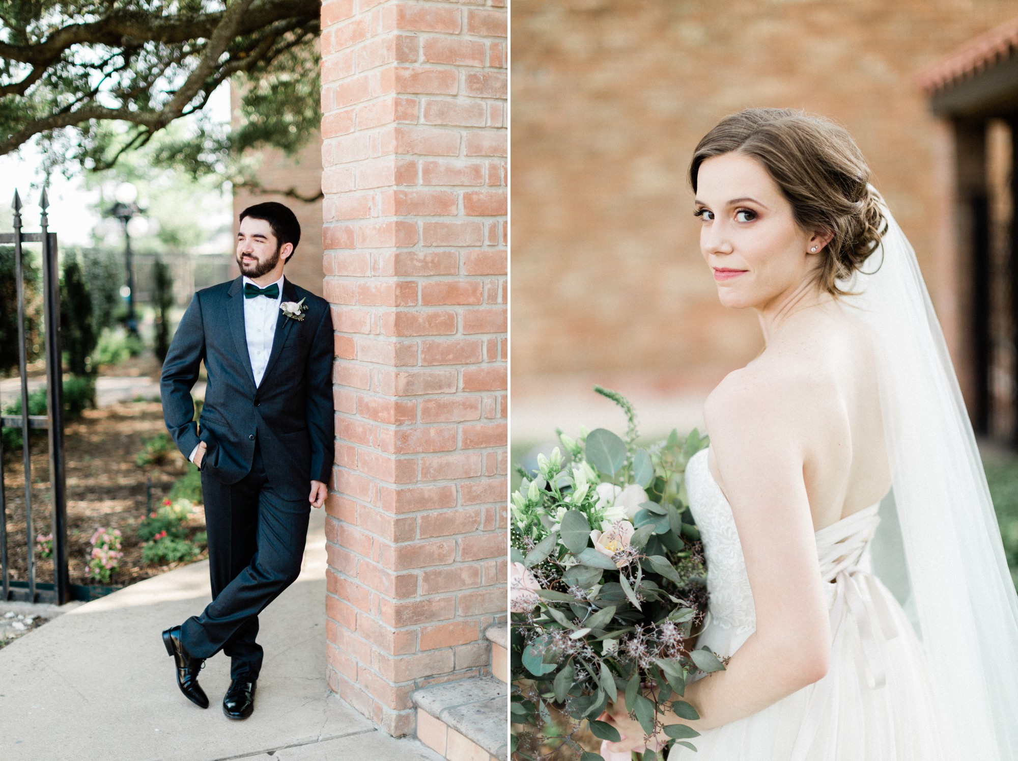 groom, black tux, bride, bhldn dress, poison ivy floral design, spring wedding photo, the gallery, houston, texas, dreamy elk photography and design