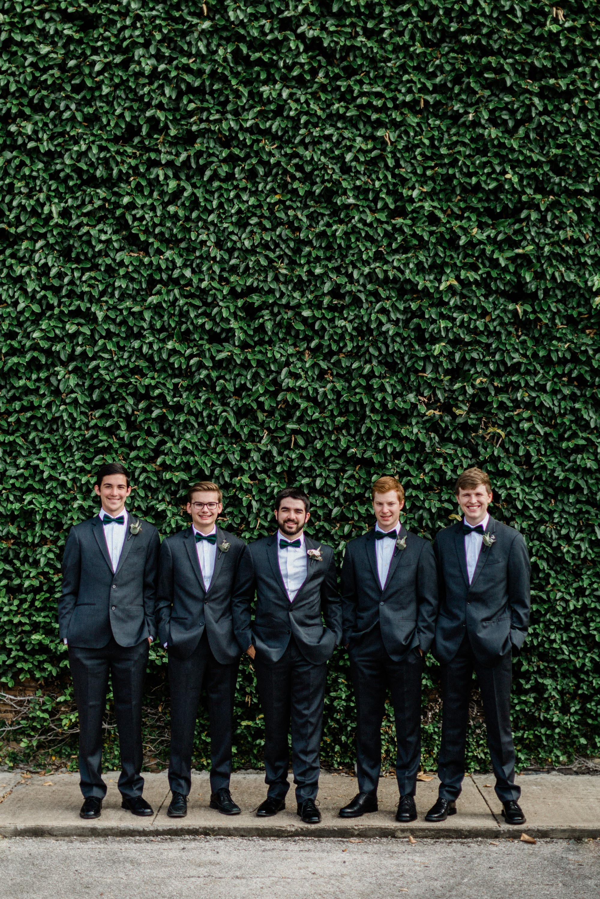 groom and groomsmen, black tux, spring wedding photo, the gallery, houston, texas, dreamy elk photography and design