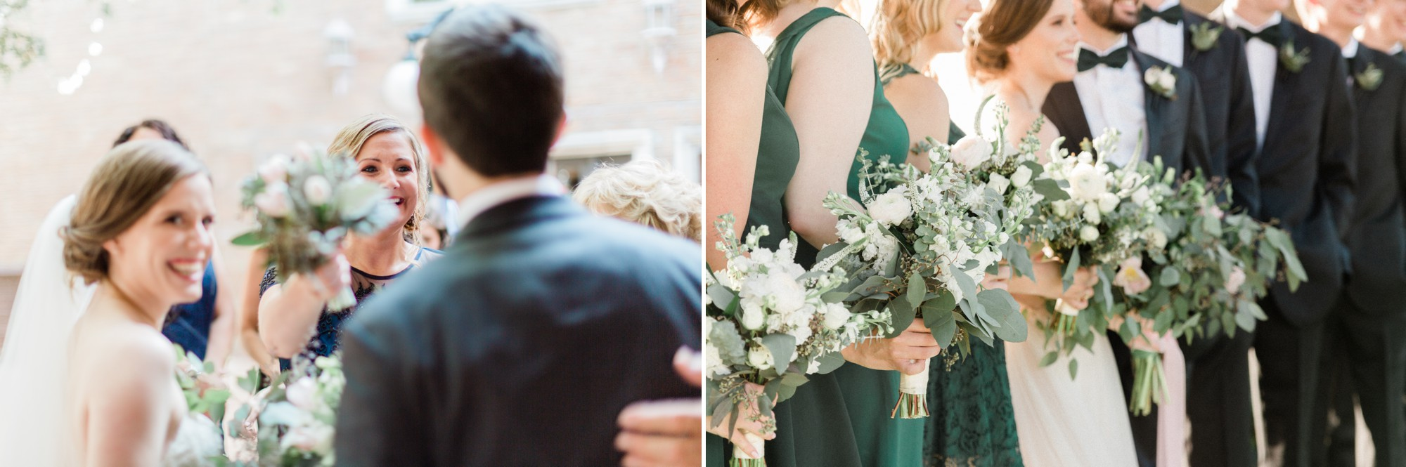 emerald bridesmaid dress, poison ivy floral design, spring wedding photo, the gallery, houston, texas, dreamy elk photography and design