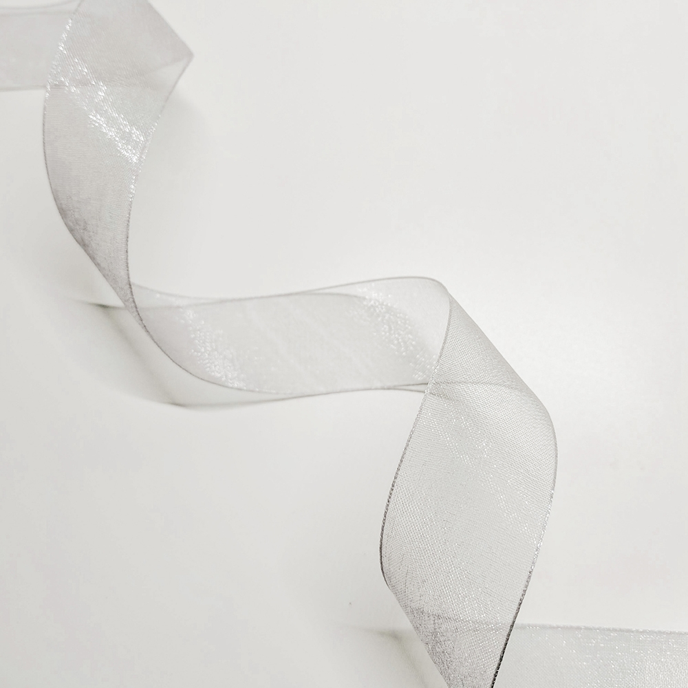 "silver organdy (1"") (discontinued)"
