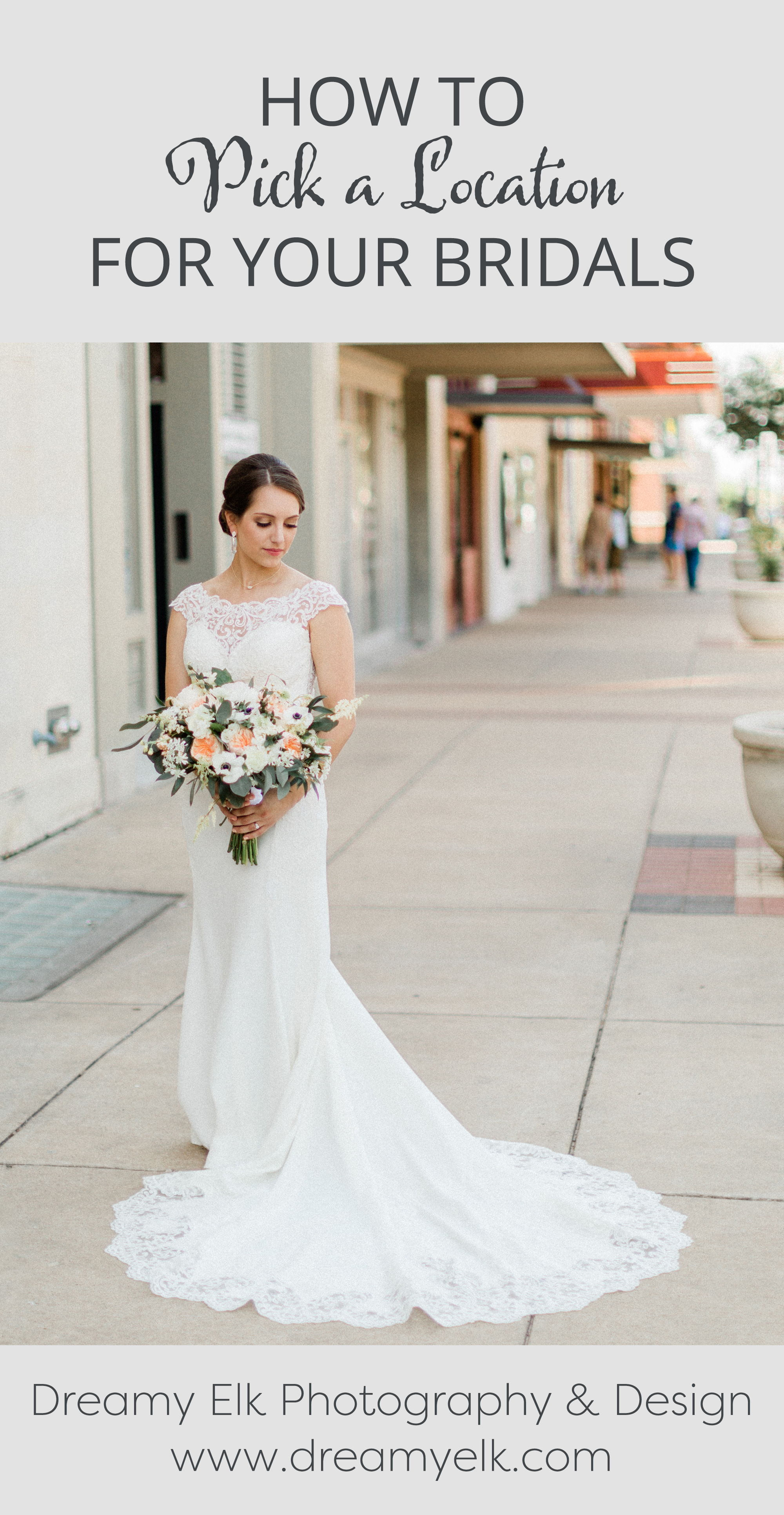 how to pick a location for your bridal session