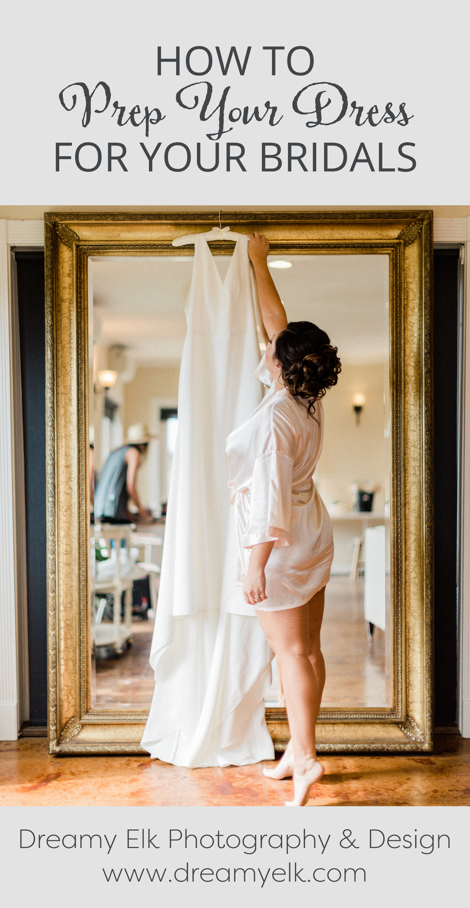 how to prepare your dress for your bridal photo shoot