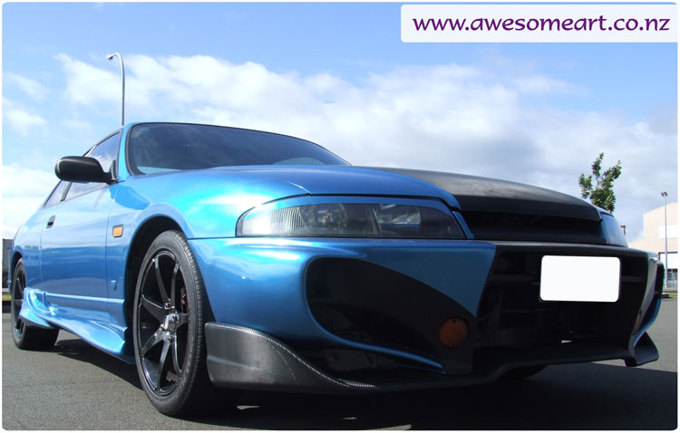 Nissan Skyline R33 After Wrap: