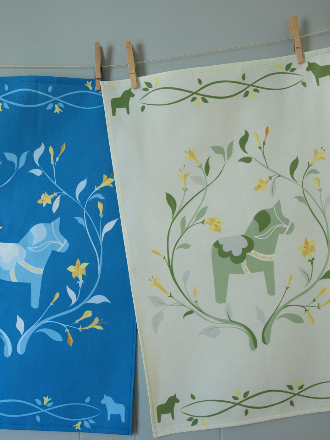 Spring dala horse tea towels, thanks to Marta for the suggestion!