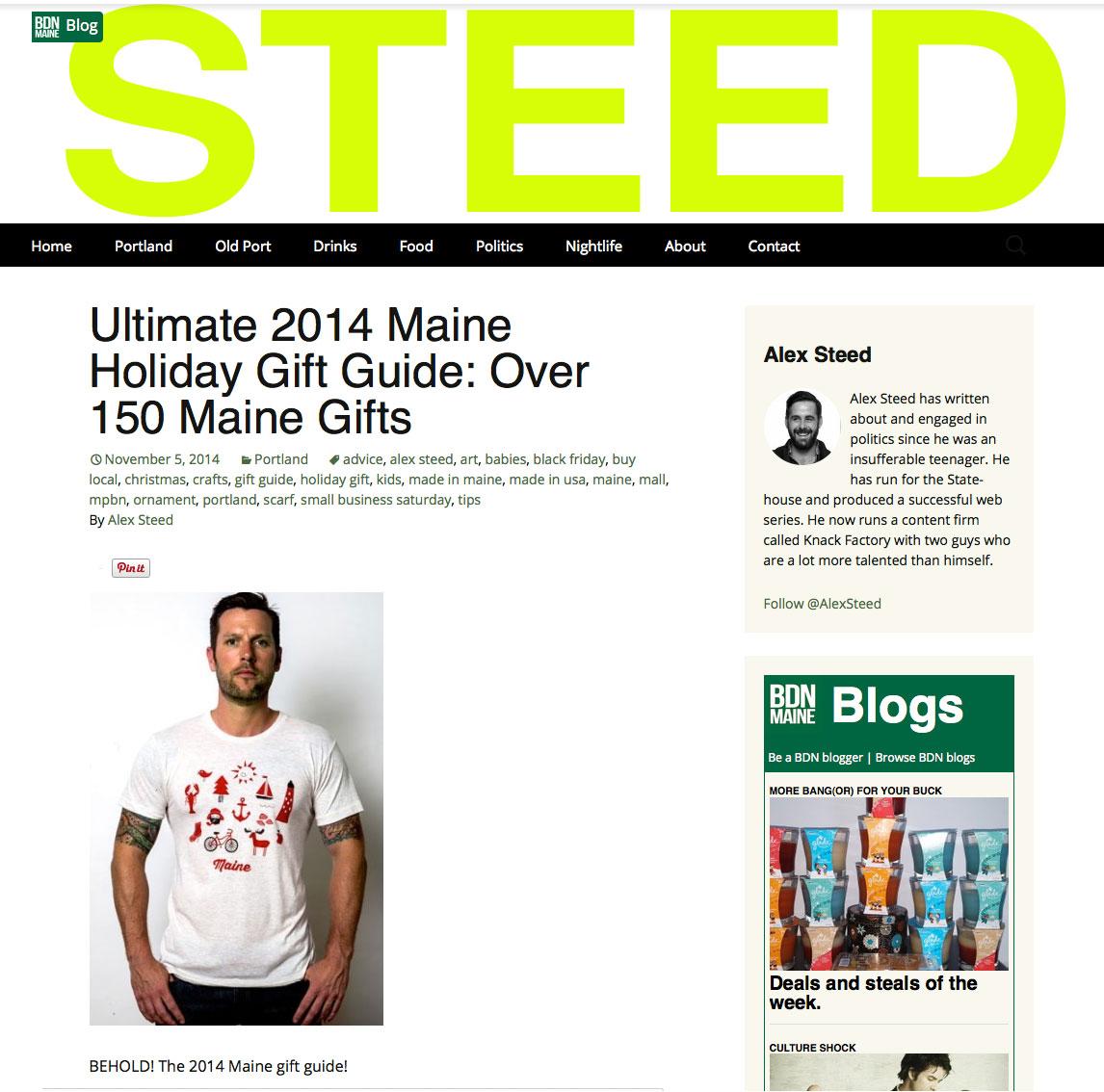 Bangor Daily News, December 2014  View full Gift Guide Online