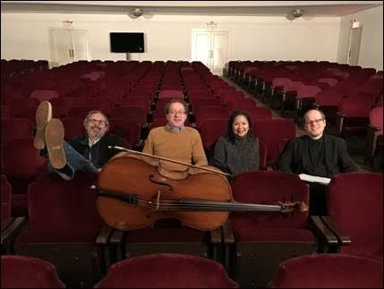 di.vi.sion piano trio: Matt Goeke, cello, Kurt Briggs, violin, and Renee Cometa Briggs piano - after recording Dream Forms