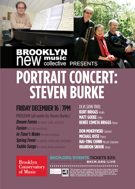 Brooklyn New Music Collective Portrait Concert
