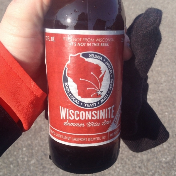 The Wisconsonite from Lakefront Brewery.