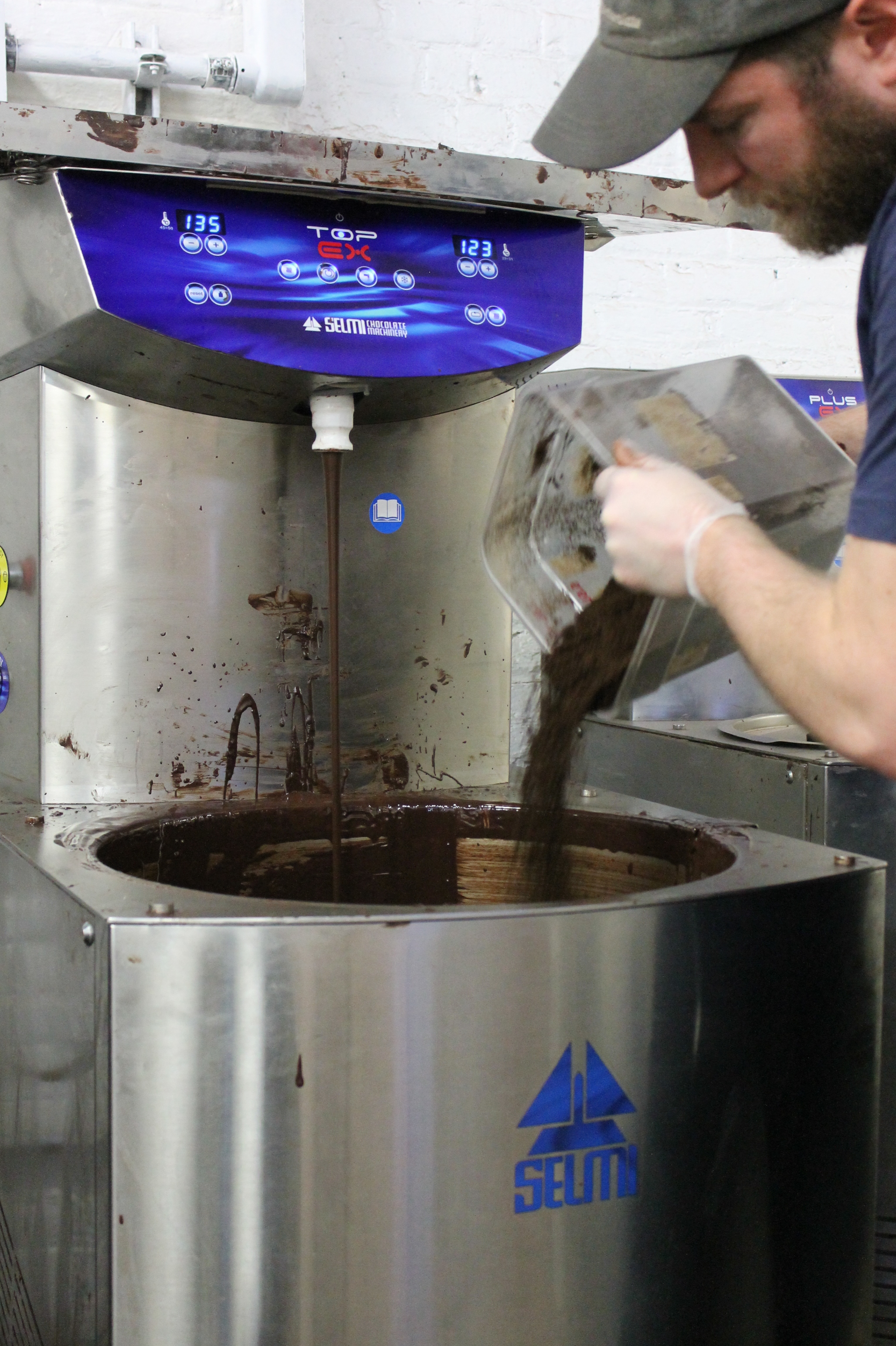 Adding ground espresso for their coffee-chocolate bars.
