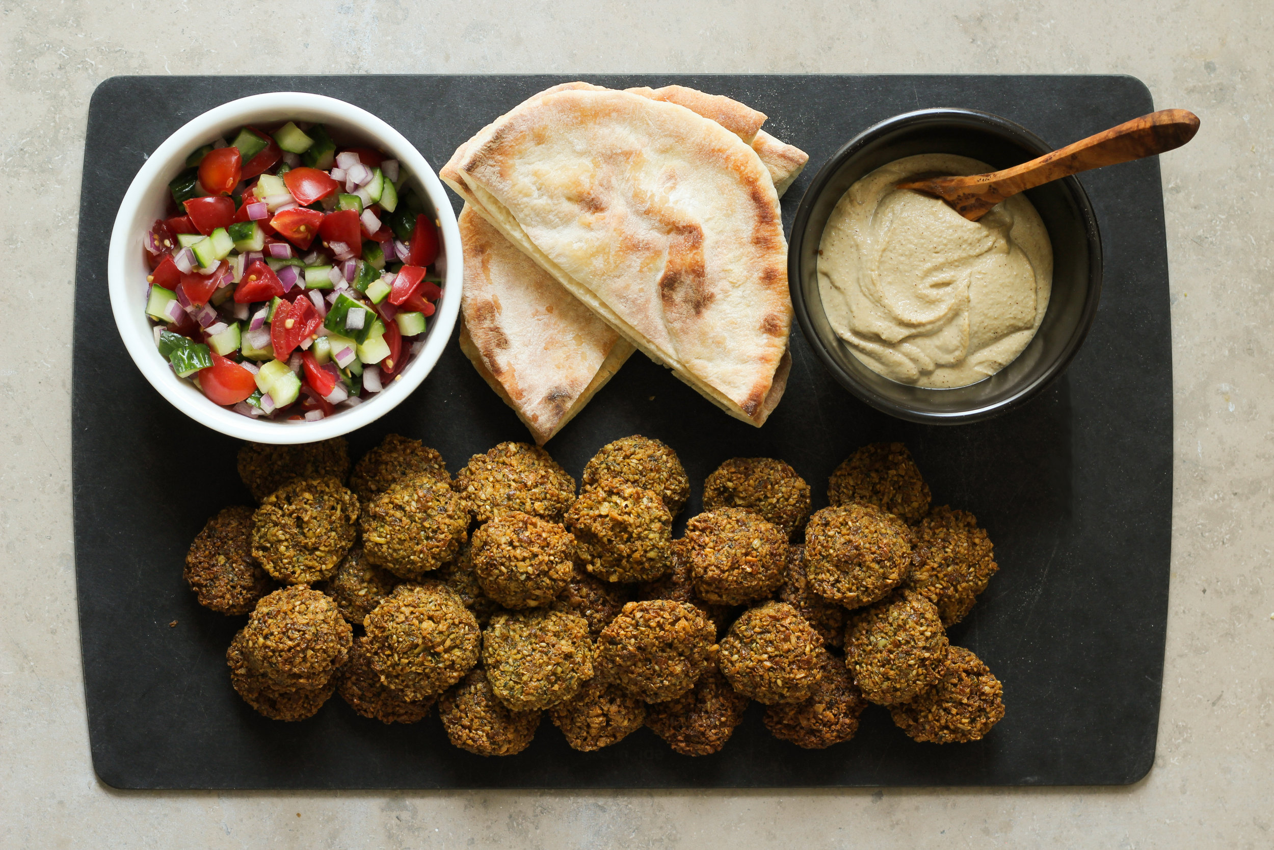 Falafel plate from Cardamom and Tea. Photo credit: Kathryn Pauline