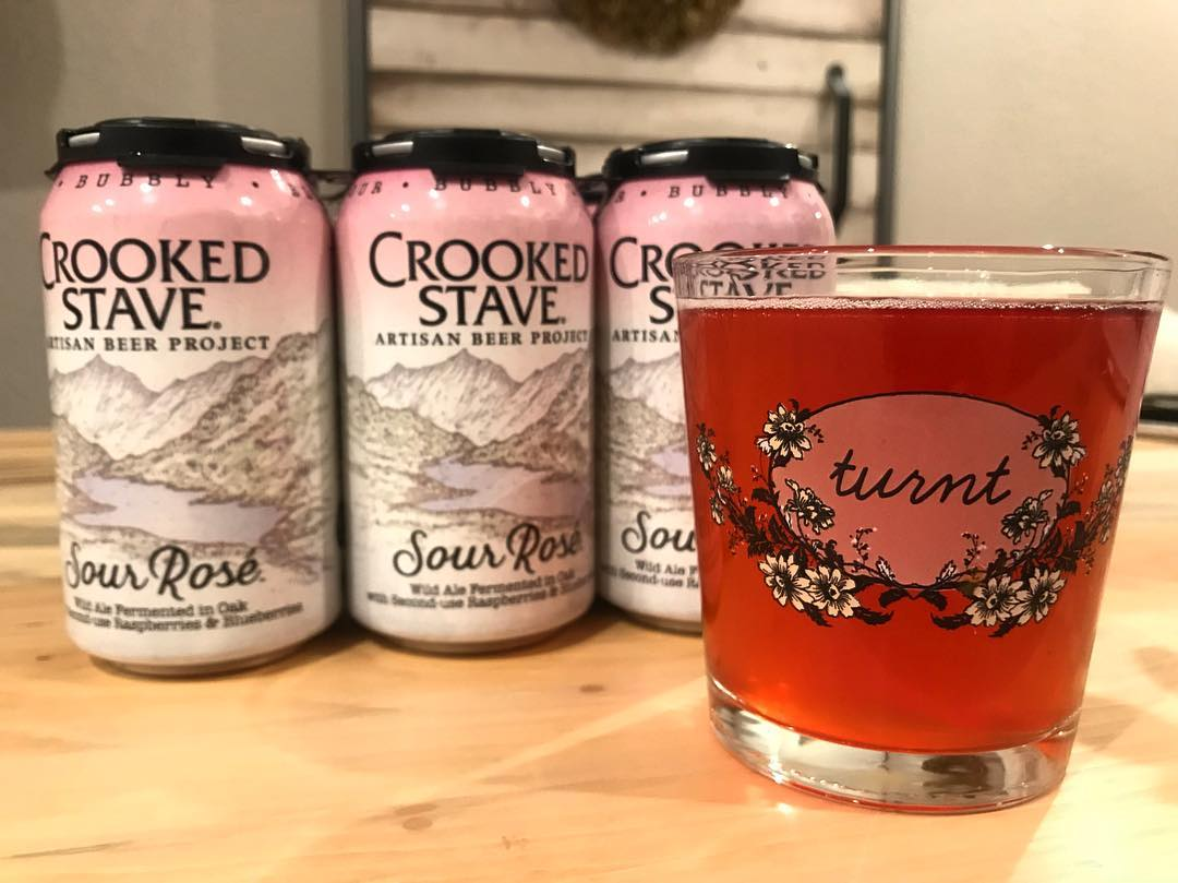 A six pack of Sour Rosé from Crooked Stave.