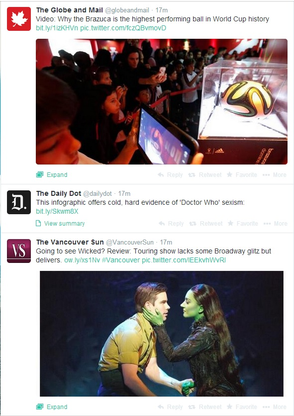 My Twitter feed is clogged with news outlets.