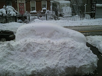 in front of my house in BK
