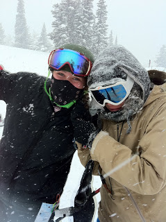 Targhee- Rach and me last March