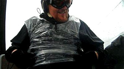 (me baggin it in the rain- on the ganj- Killington)