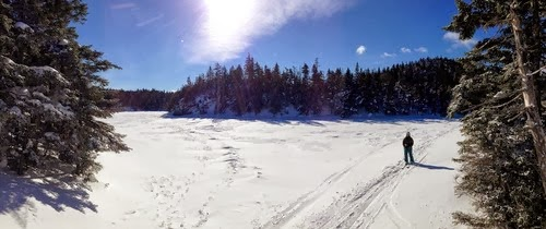 (PIC on the top of Sterling, standing on the frozen pond)