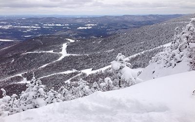 view from the hike to Castlerock- Sugarbush 3/13