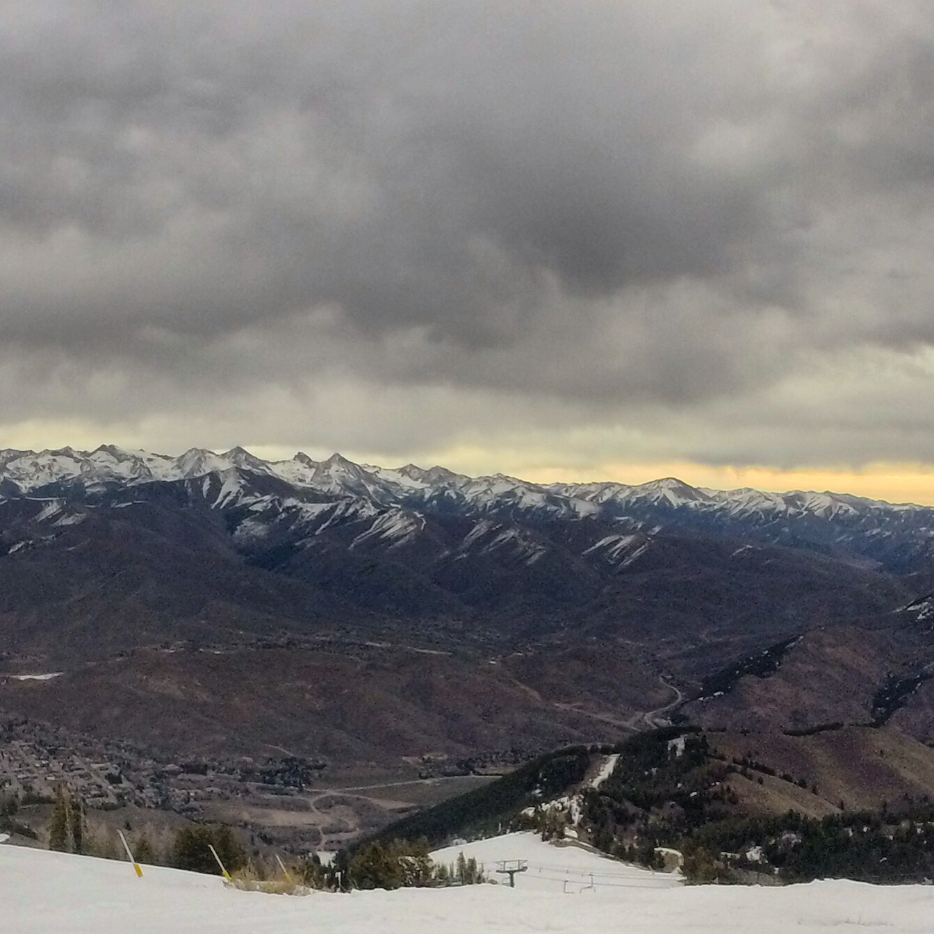 view from Sun Valley 3/15