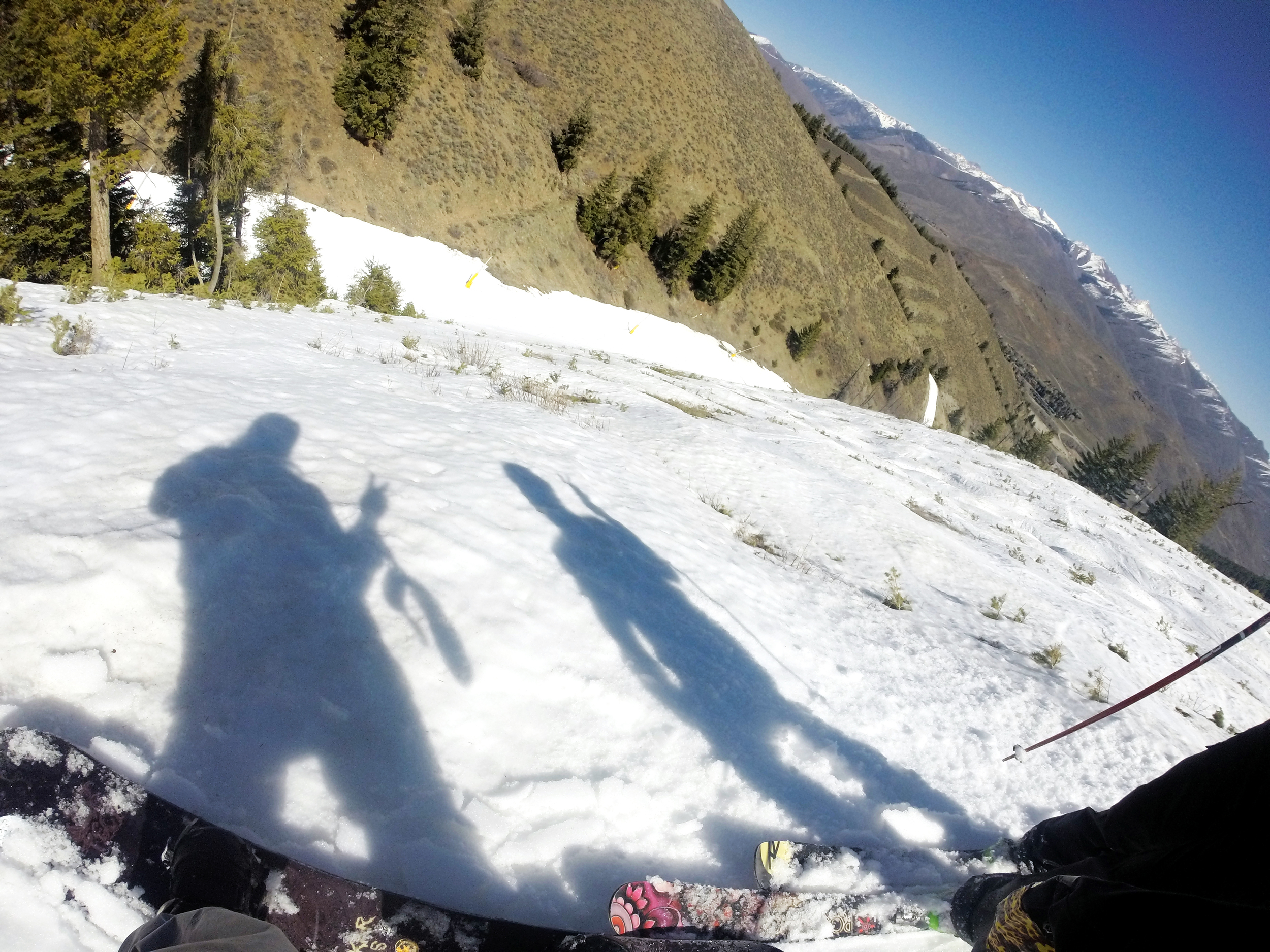 the samoan and el squat putting on their shadow puppet show on Holiday (Sun Valley 4/15)