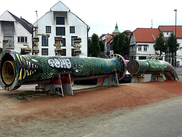 Stavanger Norway elevated locals snake blankat aug 17 edit 600.jpg