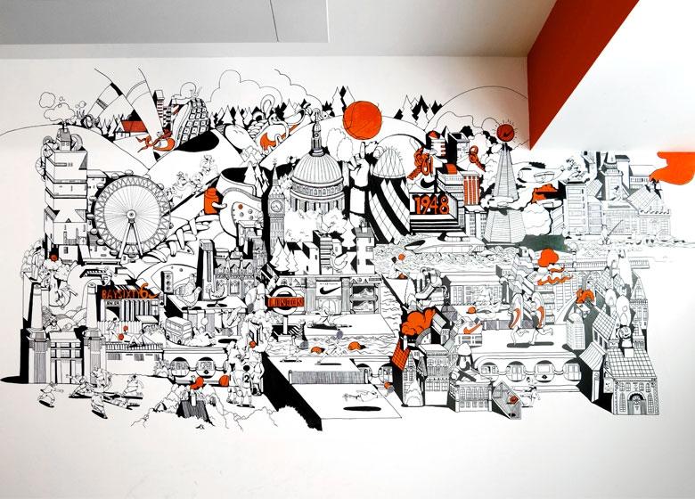 33_Nike_UK_Headquarters_Refresh_London_Illustration_Mural_3x3_Expanded 780x560.jpg