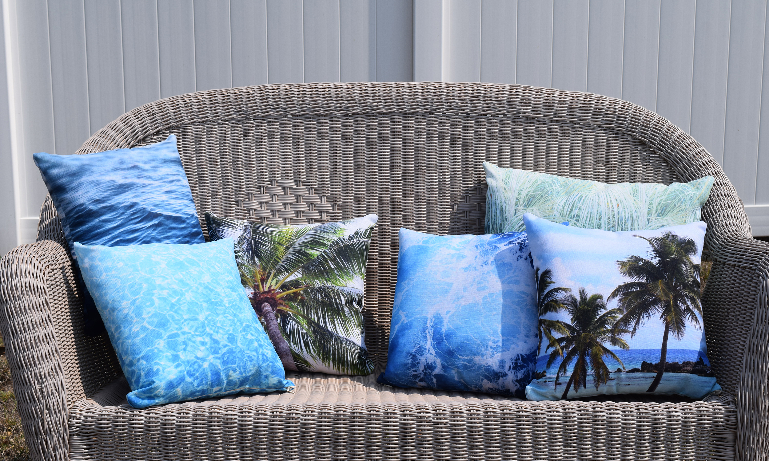 Five Throw Pillows on Bench - Nature | City Co.