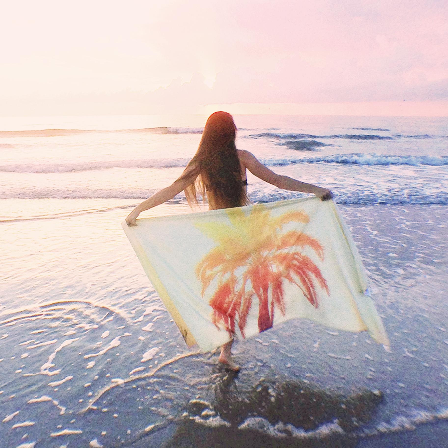Bella Shea with Golden Palm Fleece Blanket.jpg