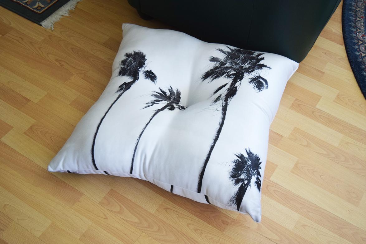 Black Palms Floor Pillow
