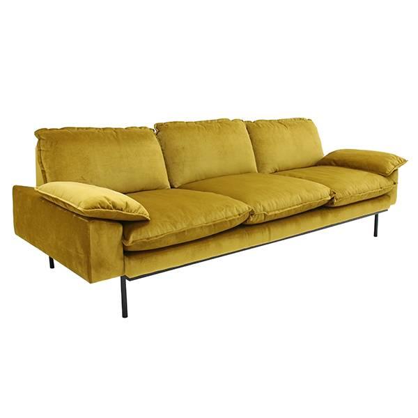 hk-living bank trendy ocher 3-seater yellow velvet couch3.jpg