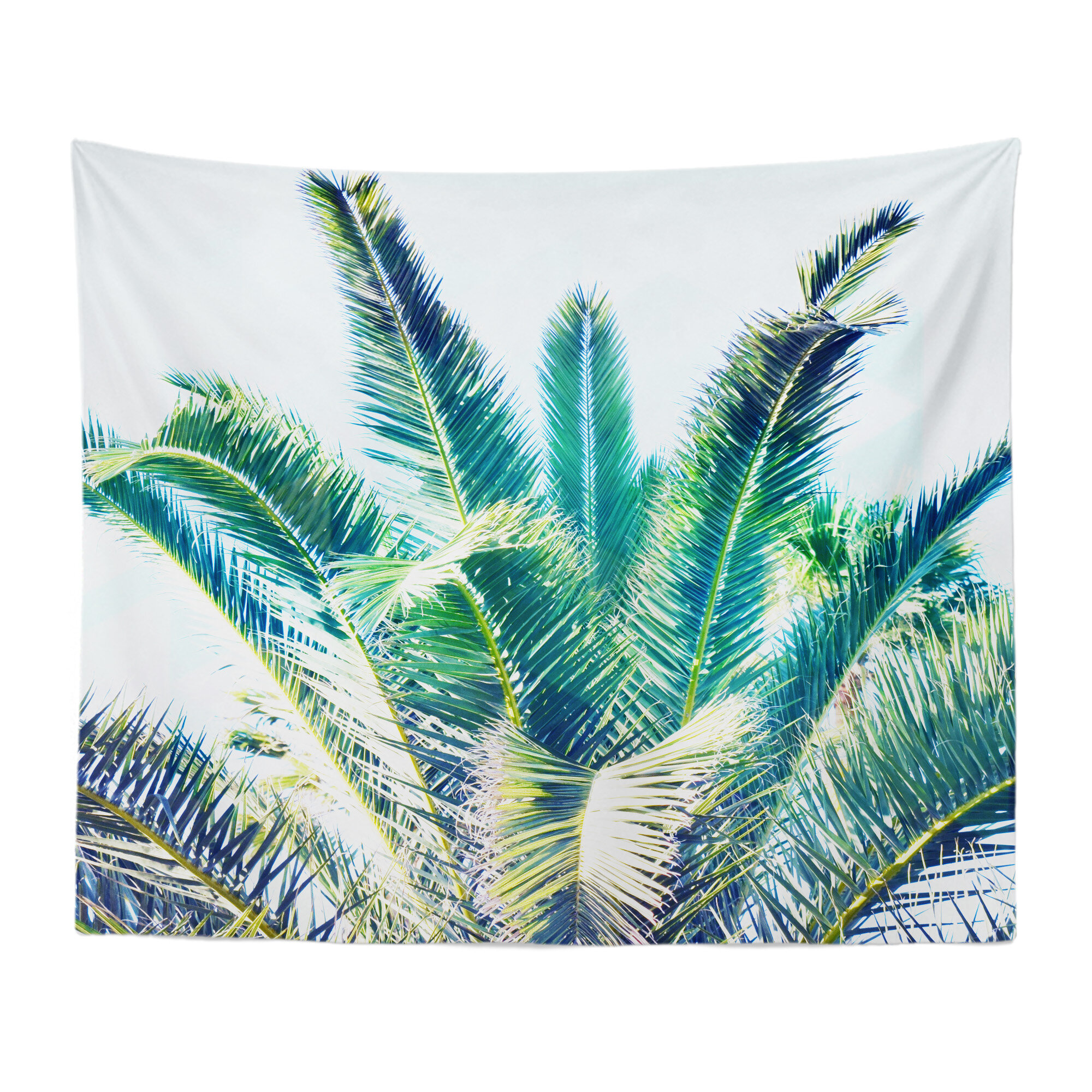 Summer Green Palms Wall Tapestry Beach Surf Decor By Nature City Co