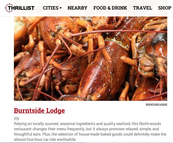 Thrillist - Minnesota's 10 Best Restaurants Outside of the Twin Cities