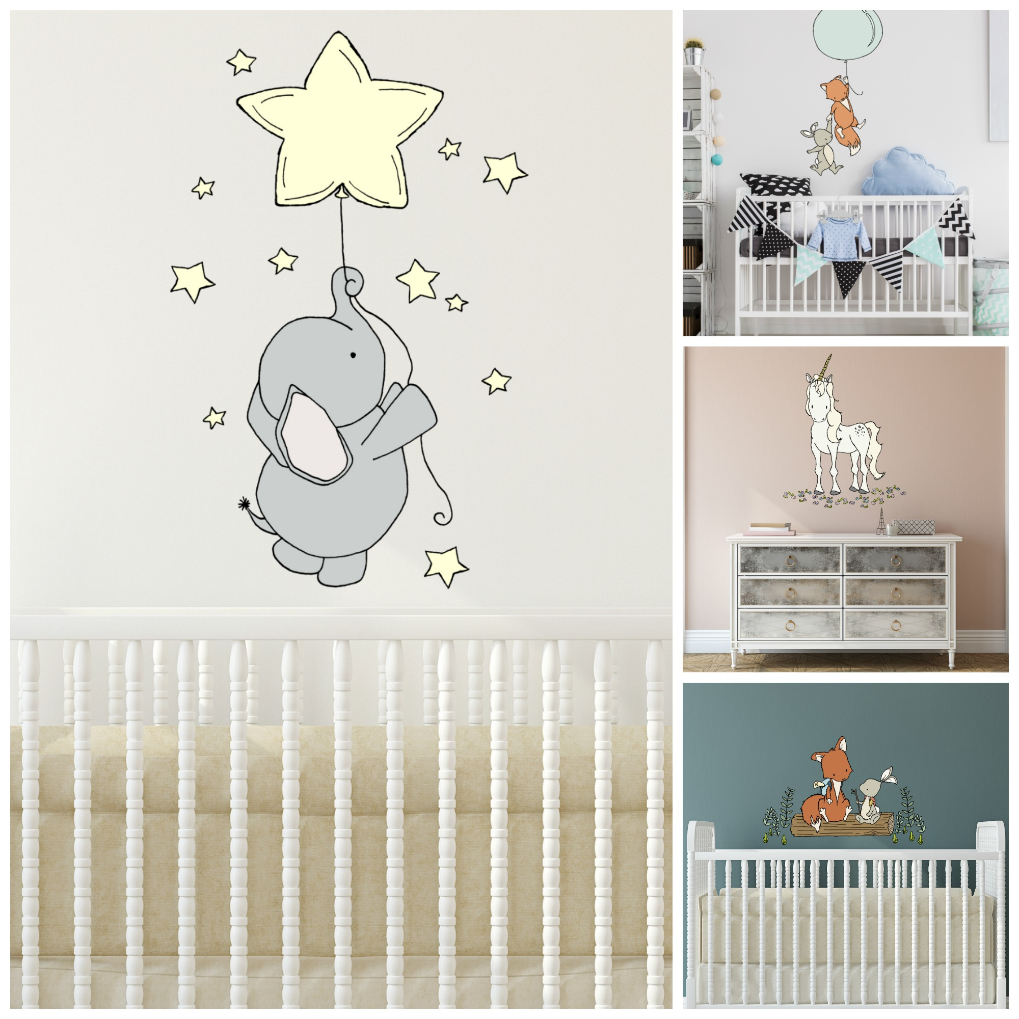nursery wall decals by Sweet Melody Designs