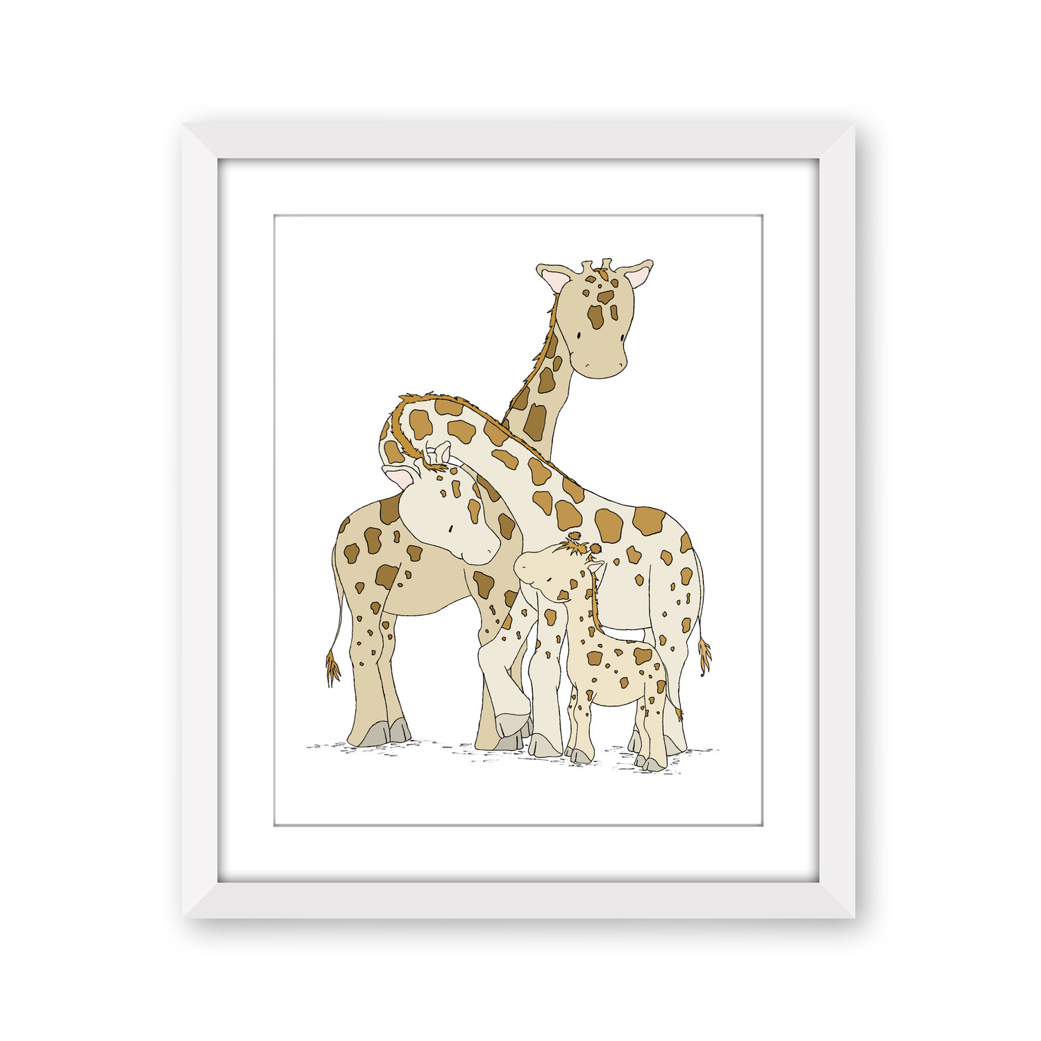 Giraffe Nursery Art Giraffes One
