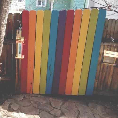 rainbow on the wall