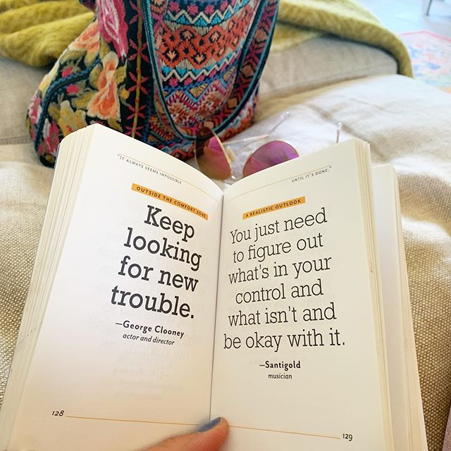 "Yessssssss. And yes.🙌🏻🌈✨This is one of my favorite quote books! It's called ""It Always Seems Impossible Until It's Done: Motivation for Dreamers and Doers""💛Where do you find your best inspiration? #quoteoftheday #wordsarepowerful #lovequotes #motivation #createalifeyoulove"