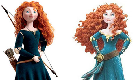 Princess Merida before and after
