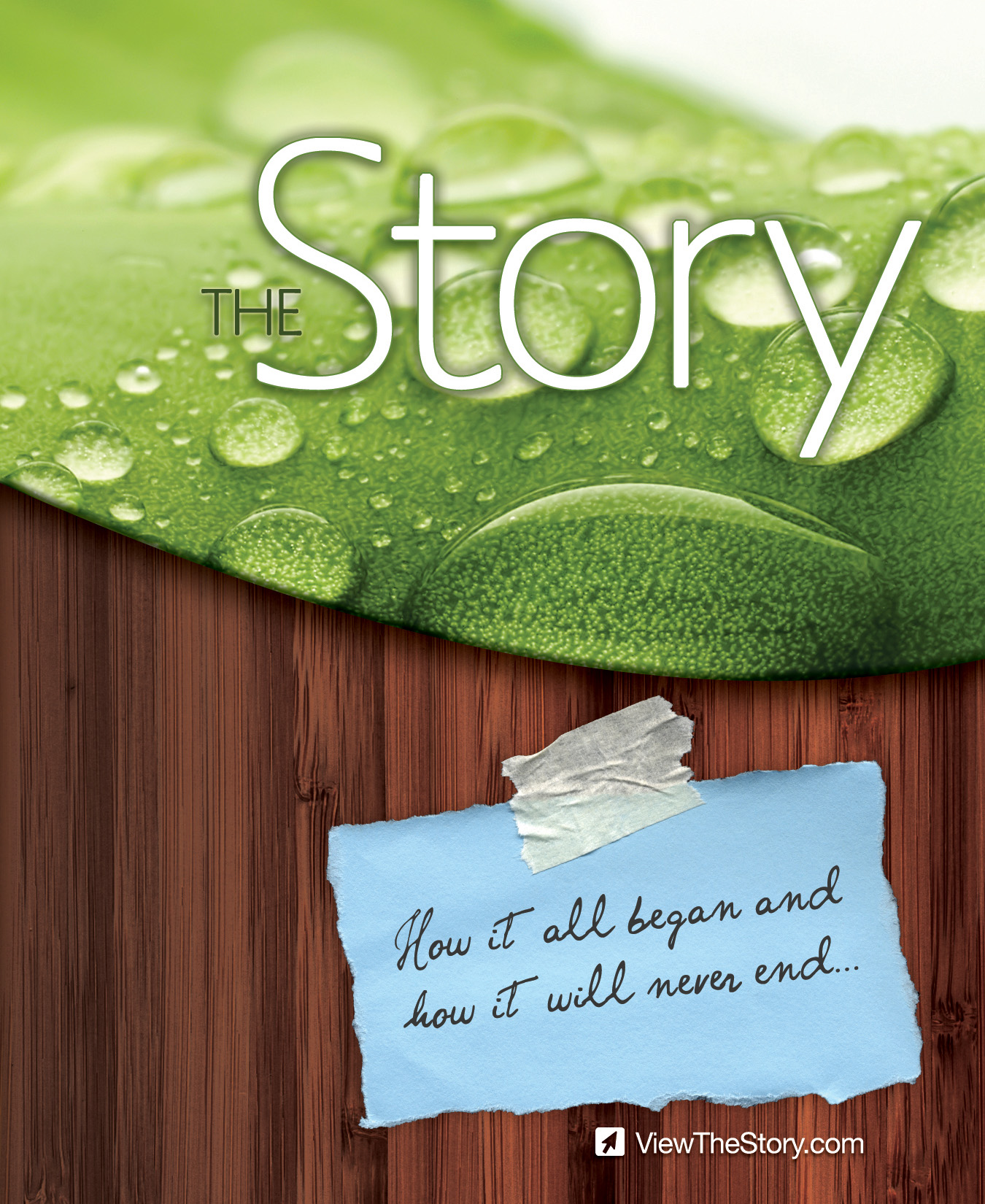 """Want to learn more about following Jesus? Click on """"The Story""""."""
