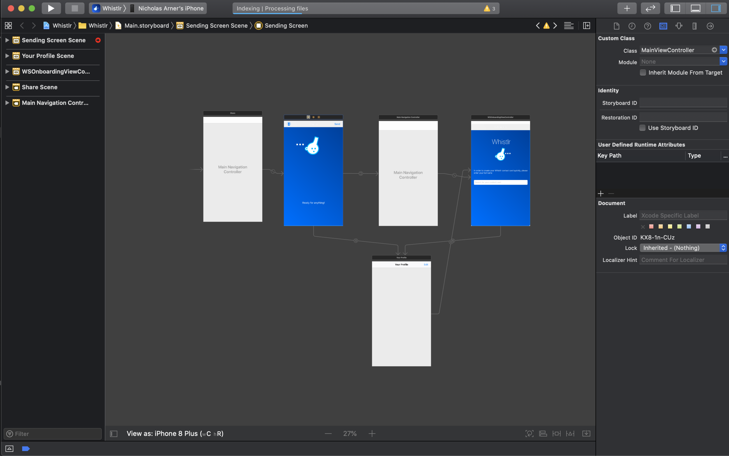 Viewing a storyboard in Xcode