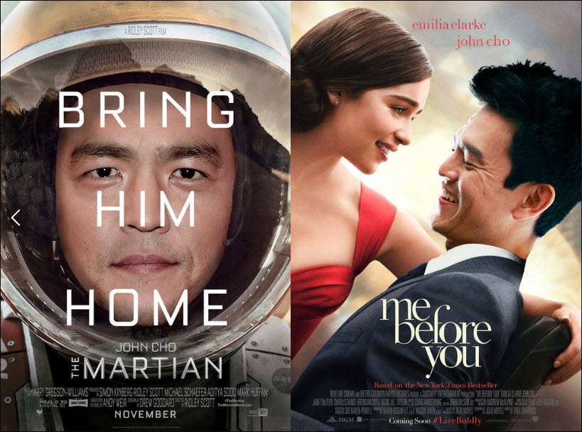 The #starringjohncho movement= so great. (image via http://sbs.com.au)