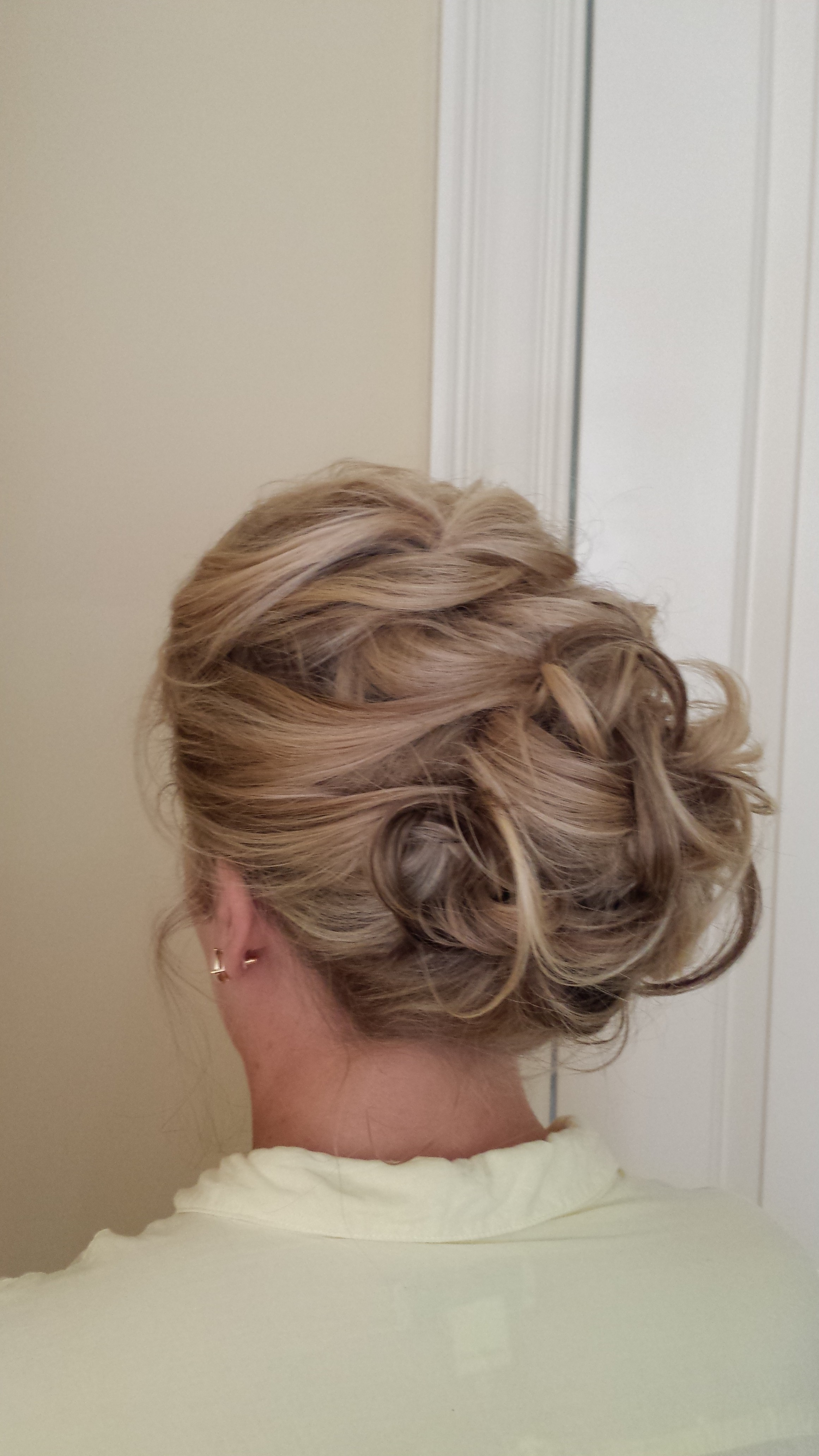 Loose bridal updo by Beyond Beautiful by Heather, Savannah, GA
