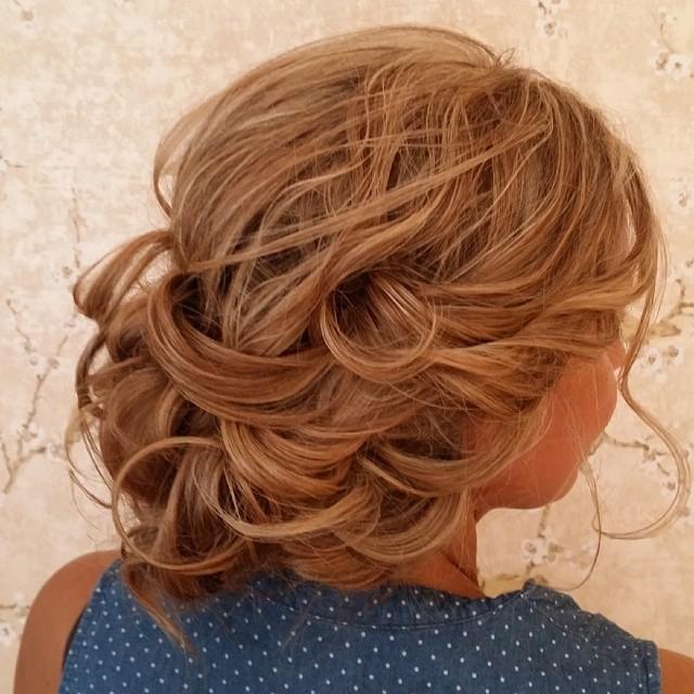 Romantic loose bridal updo by Beyond Beautiful by Heather, Savannah, GA