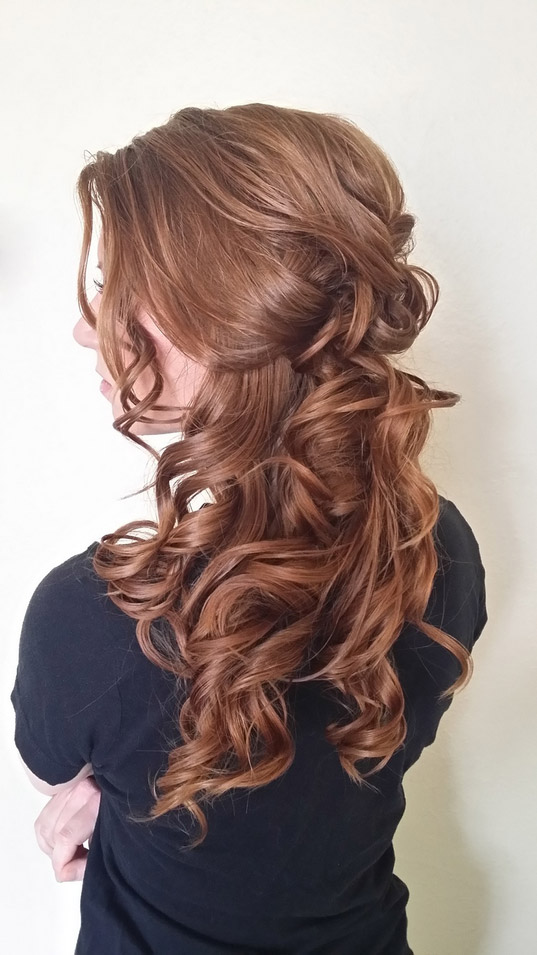 Loose Romantic Bridal hair by Beyond Beautiful by Heather, Savannah, GA