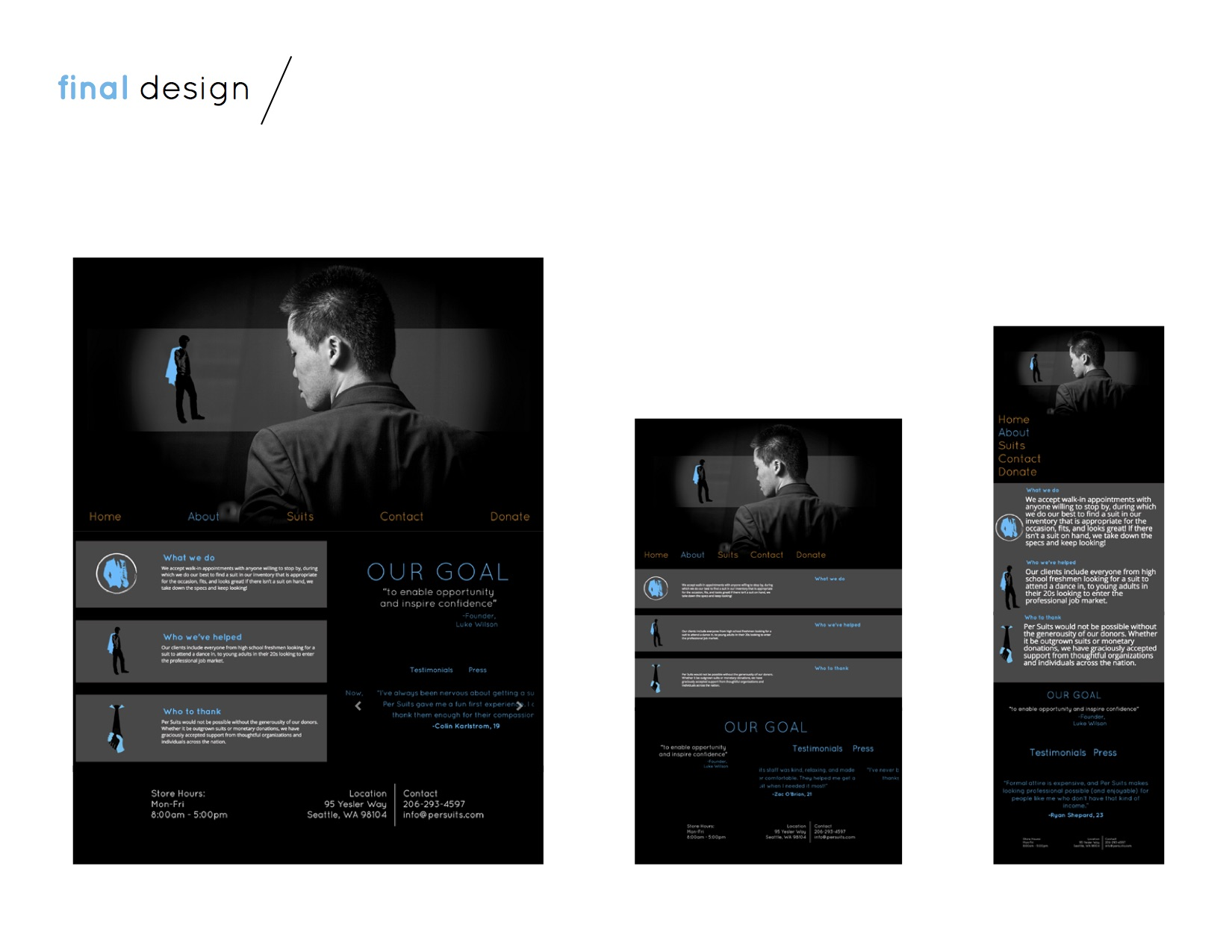 About page final design + viewports