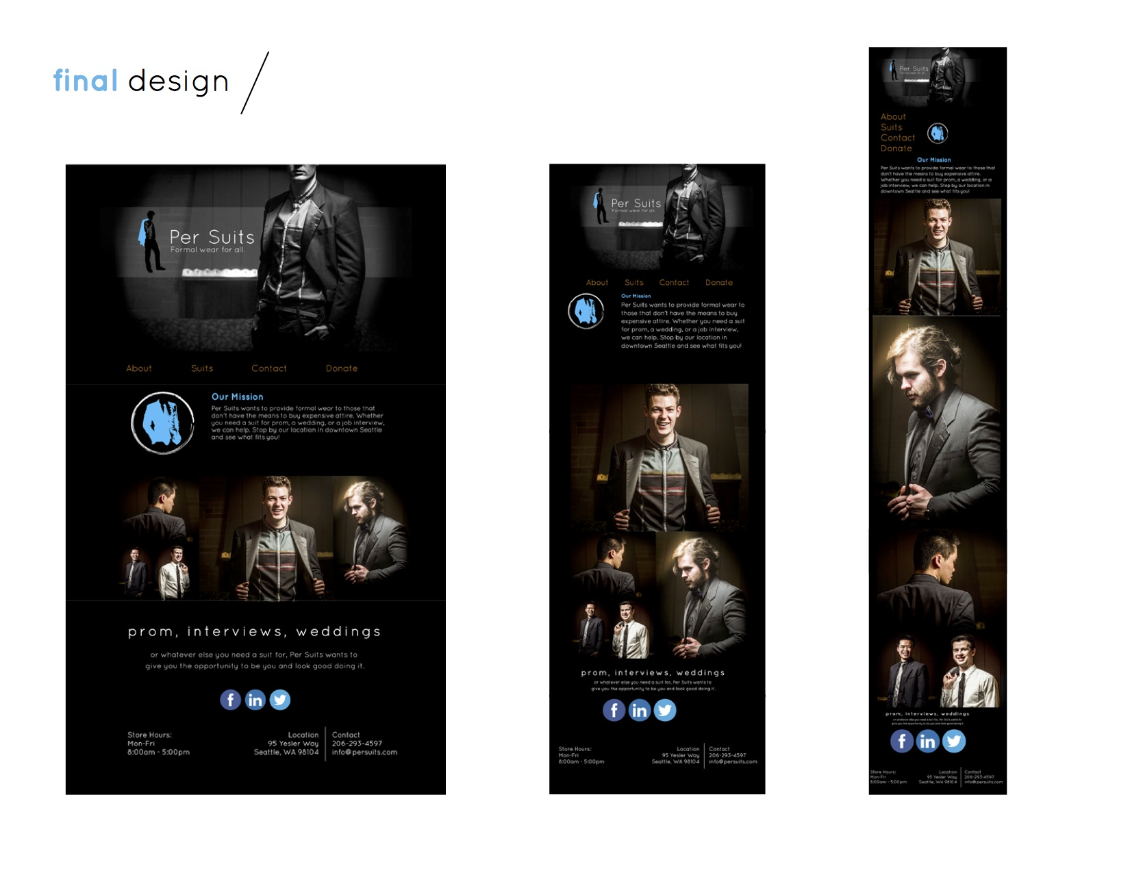 Home page final design + viewports