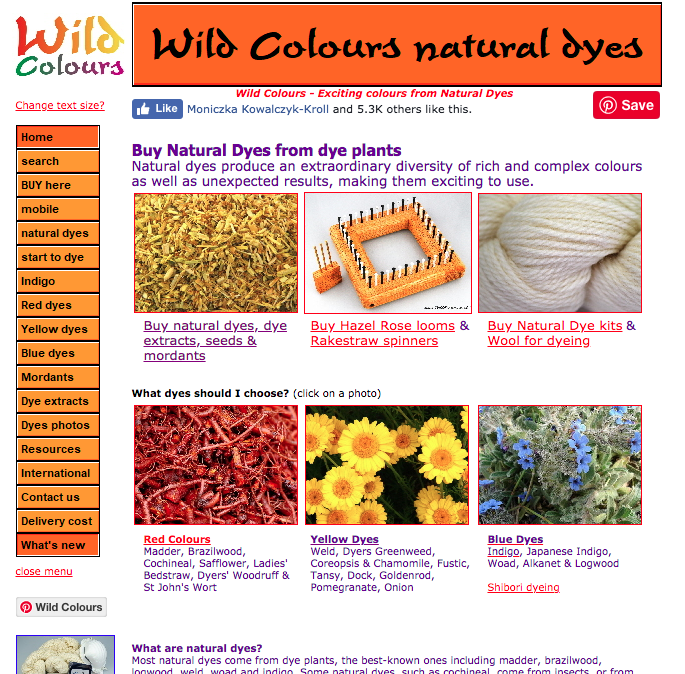 Wild Colours - A one stop shop for natural dye supplies