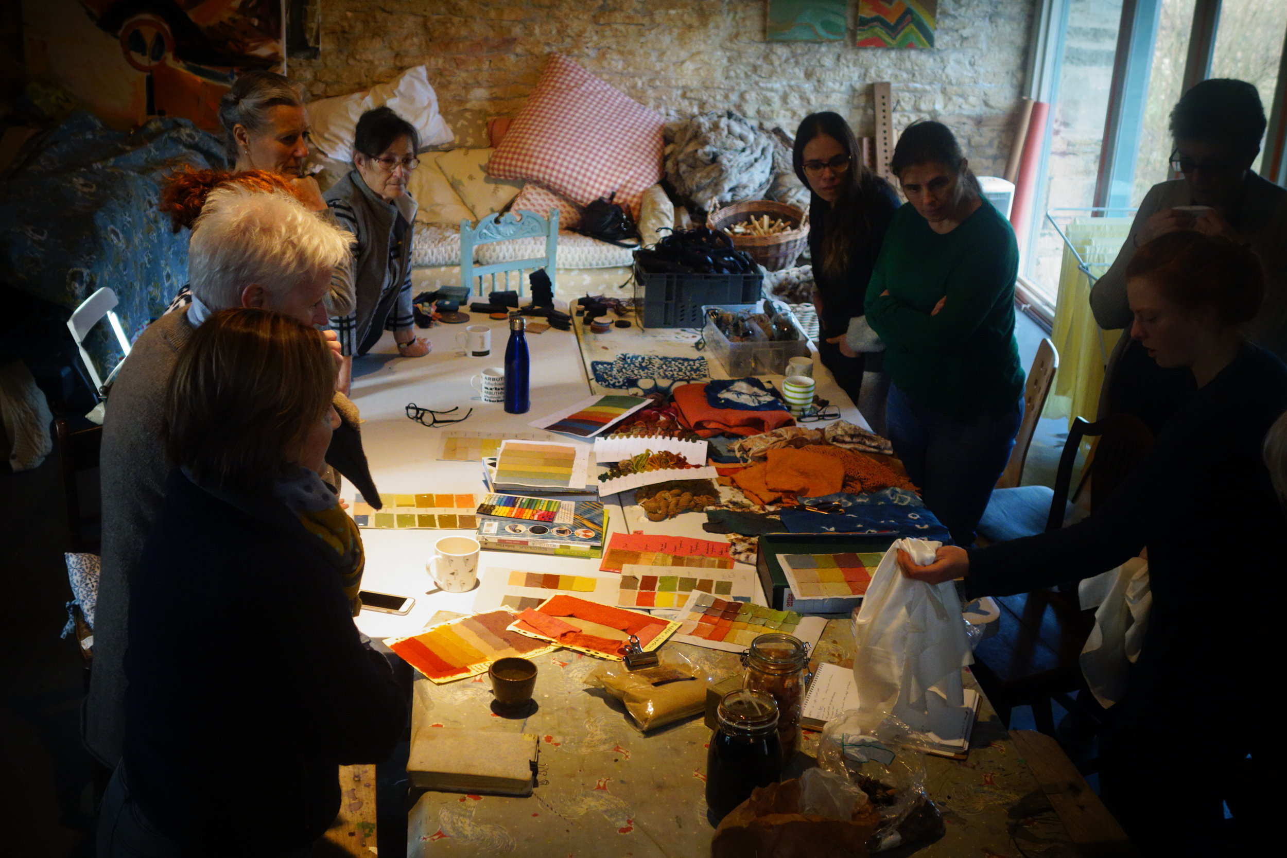 Private Workshops - Learn about the Indigo Dye Vat, Japanese Shibori stitch, fold and clamp resist dyeing, natural dyeing, bundle dyeing, natural mordants and modifiers, and wild and locally grown dye plants.At The Tallet Studios, near Cirencester, Gloucestershire, GL7 5ET or a venue of your choice.