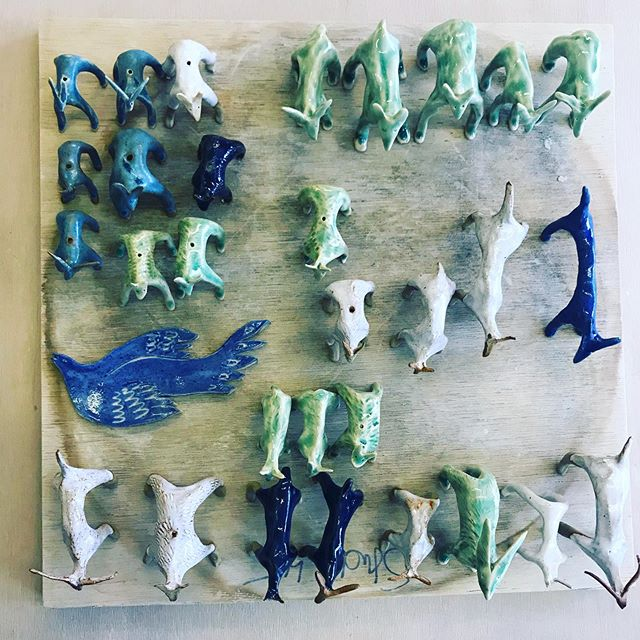 Out of the kiln  #clay #claycreatures #clayanimals #ceramics #ceramicanimals #craft #making #handmade