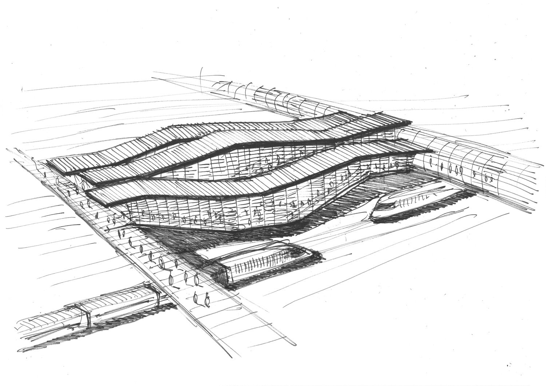 Croquis Massy Gare SGP - Silvio d'Ascia Architecture
